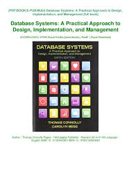 Database Systems Design Implementation And Management 6th Edition Pdf Pdf Database Systems A Practical Approach To Design