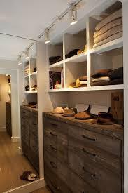 closet lighting track lighting. Fantastic Walk-in Closet With Track Lighting, Floor Mirror, Rustic Chest Of Drawers Lighting C
