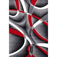 red and gray rugs 2305 gray black red white swirls 52 x72 modern abstract area rug red and gray rugs
