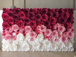 Pink Paper Flower Decorations Large Paper Flowers Paper Flower Backdrop Giant Paper