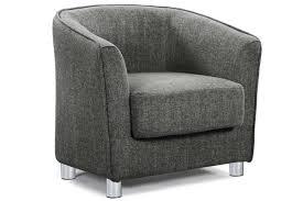vegas charcoal grey fabric upholstered tub bucket chair