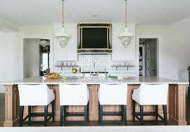 transitional kitchen ideas. Kitchen Hood. Black Hood With Brass. Custom Brass Flanked By White Transitional Ideas L