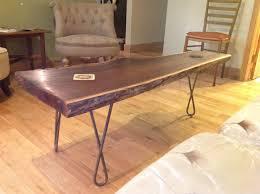 Black Walnut Coffee Table Black Walnut Table With The Twist Hairpin Legs