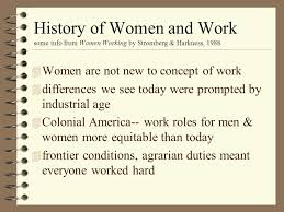 women and work an interesting topic by virtue of your college  4 outline of presentation