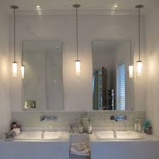 bathroom pendant lighting fixtures. 2 pendants and 1 can in the middle? something similar (pendants lights) penne bathroom light pendant lighting fixtures m