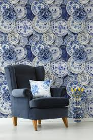 Mind The Gap Delftware Behang Delftsblauwe Borden Behang Luxury