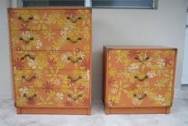 whimsy furniture. 1970s Drexel Flower Power Whimsy Dressers Furniture