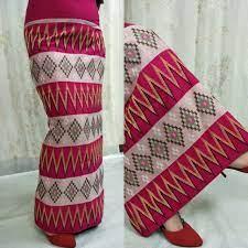 Red Diamond Traditional Mizo Dress - Mizofashion