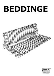 beddinge three seat sofa bed frame