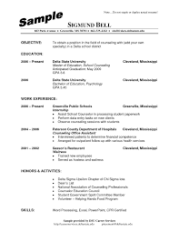 Sample Objective For School Counselor Resume Archives