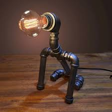 industrial pipe lighting. 35 Creative DIY Industrial Pipe Lamp Design Ideas Robot To Decor Your Home Lighting