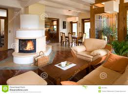 Living Room Fireplace Modern Living Room With Fireplace Stock Photo Image 26144970