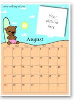 Online Calendar Template 2015 August 2015 Calendar Template Make A Free Printable August 2015