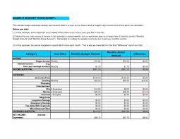Sample Budget Worksheet Example Budget Sheet Beneficialholdings 3