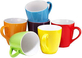 Ideal for home and office, and a necessity for all those caffeine addicts, this is a mug that offers a whopping 64 oz of pure, delicious coffee. Amazon Com Coffee Mug Set Set Of 6 Large Sized 16 Ounce Ceramic Coffee Mugs Restaurant Coffee Mugs By Bruntmor Kitchen Dining