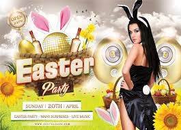 Easter Party Flyer Template On Behance