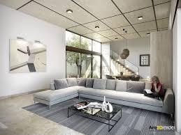 Living Room Design: Violet Living Room - Modern Design