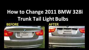 Fast How To Change Bmw 328i Trunk Tail Light Bulbs Running Lights Brake Lights