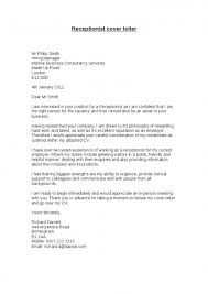 Cover Letter For A Medical Receptionist Cover Letter Medical In