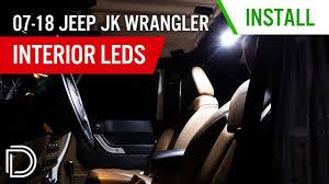 Jeep Wrangler Interior Lights Stay On 2007 2018 Jeep Jk Wrangler Interior Led Kit Diode Dynamics