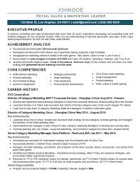 marketing manager resume marketing director resume example