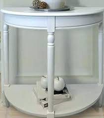 half circle entry table white entry table furniture half round sofa table white finishing wooden coaster