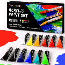 com quality acrylic paints best acrylic paint set for painting canvas wood fabric clay ceramics glass nail art crafts 12x12ml carefully