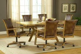 dining table with caster chairs grand bay rectangle dining set with caster chair oak stunning kitchen dining table with caster chairs
