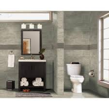 MS International Trevi Gris  In X  In Glazed Porcelain Floor - Glazed bathroom tile