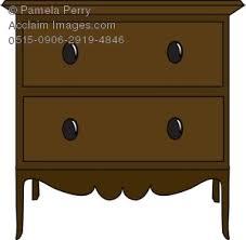 bedroom furniture clipart. clip art illustration of a nightstand bedroom furniture clipart