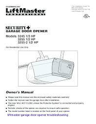 chamberlain garage door opener manual garage door opener manual liftmaster garage door opener troubleshooting