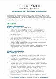 Service Coordinator Resumes Client Service Coordinator Resume Samples Qwikresume