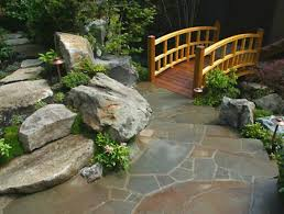 Outdoor Living:Rock Japanese Garden Design With Fish Pond And Amazing Diy  Waterfall Backyard Garden