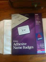Avery 8395 Adhesive Laser Inkjet Name Badge Label 160count