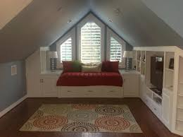 bedroom black built in bookcase pine board swing seat white vaulted ceiling stars hanging decorations with vaulted ceiling storage ideas