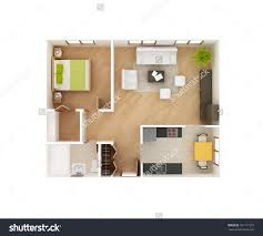 Graphy Bedroom Simple 3d Floor Plan House Top Stock Illustration 181117379