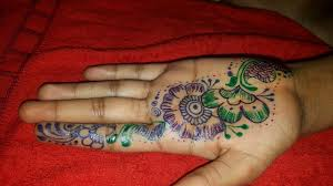 Pen Mehndi Design Arabic Mehndi Design With Sparkle Pen Colourfull Mehndi Design
