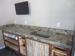 Kitchen Countertop Tile Slate Tile Counter Top Installation Time Lapse Youtube