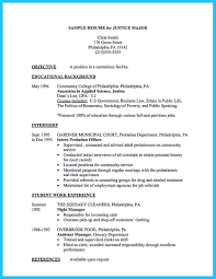 Criminal Justice Resume Objective Examples Best Criminal Justice Resume Collection From Professionals 12