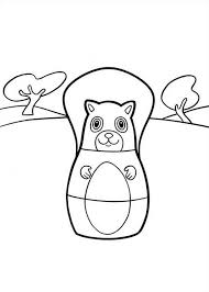Higglytown Heroes Character Red Squirrel Fran Coloring Page