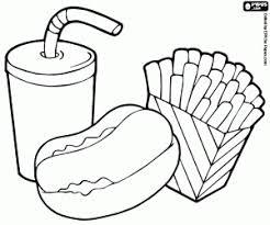 Disegni Di Fast Food Da Colorare E Stampare
