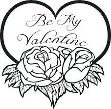 Valentine Heart Coloring Pictures Printable Heart Coloring Pages