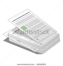 Stack Pile Documents Agreements Business Icon Stock Vector 262680878 ...