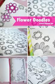 flower doodles in a notebook by ihanna of ihanna nu