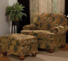 large overstuffed chair with ottoman