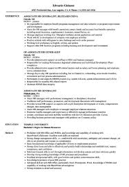 Associate Hr Generalist Resume Sample Excellent Templates Pdf