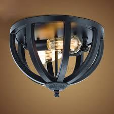 simple 2 light black wrought iron kitchen lighting