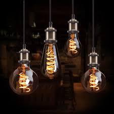 3d Light Bulb Us 3 59 30 Off E27 110v 220v Retro Edison Light Bulb 3d Led Lamp Cooper String Lights G80 G95 G125 Ampoule Vintage Filament Incandescent Lamp In
