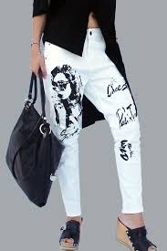 all collections fashion essay casual clothing black white print jeans
