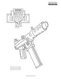 Fortnite Rifle Scar Coloring Page Ar T Game Art And
